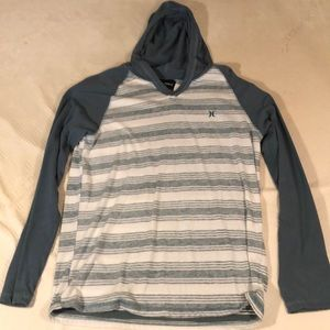 Men's Hurley Long Sleeve Hooded T Shirt
